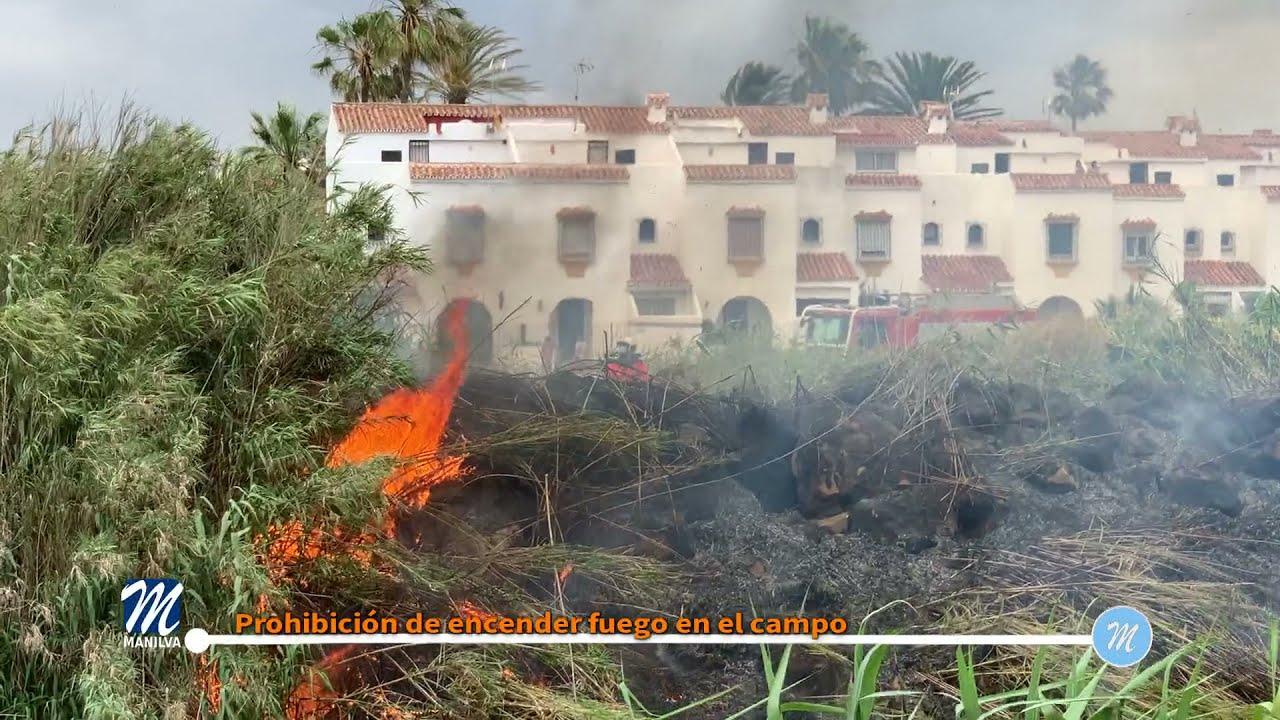 Prohibición de encender fuego en el campo