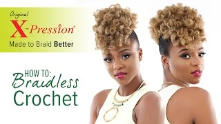 getlinkyoutube.com-How to Curl and Braidless Crochet Braid | X-Pression Cuevana Twist