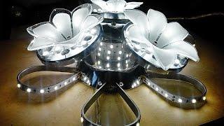 getlinkyoutube.com-Самодельная светодиодная люстра в домашних условиях, примерно 48 Ватт