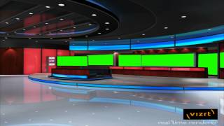 getlinkyoutube.com-news studio hall in green screen free footage