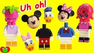getlinkyoutube.com-Mickey Mouse Club House Friends Wrong Heads Disney Lego and Minnie Magical Microwave