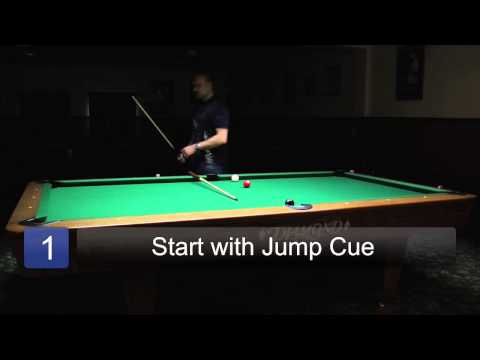 How to Make a Jump Shot in Pool : Billiards Lessons