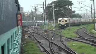 getlinkyoutube.com-Brindavan exp Leaving Chennai Central & Xing EMU & Exp train