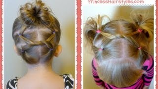 getlinkyoutube.com-Shoelace Knot Hairstyles For Gymnastics and Sports