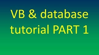 getlinkyoutube.com-insert data from variable to ms access database by vb 2010 tutorial for beginner  part 1
