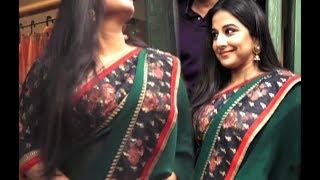 Vidya Balan HOT Assets Show In Saree At Event