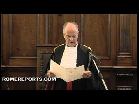 Judge sentences Pope's butler; Hear the official sentence of Paolo Gabriele