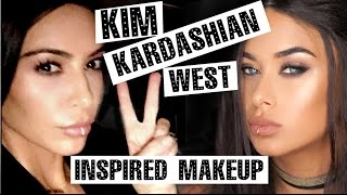 getlinkyoutube.com-Kim Kardashian-West lip ring inspired makeup - Bronze soft glam