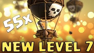 getlinkyoutube.com-55 x NEW LEVEL 7 BALLOON ATTACKS | NEEDS A RESKIN? | Clash of Clans