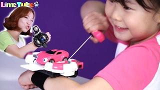 덤벼라! 파워배틀 와치카 미니카 배틀리그 자동차 라임이의 장난감 놀이 LimeTube & Toy 라임튜브