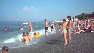 getlinkyoutube.com-Пляж. Черное море. Адлер 2010