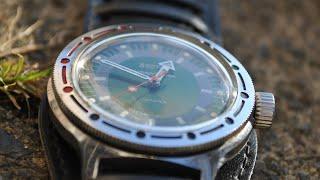 getlinkyoutube.com-Обзор двух часов Восток Амфибия с механизмом 2409 и антимагнитной вставкой.