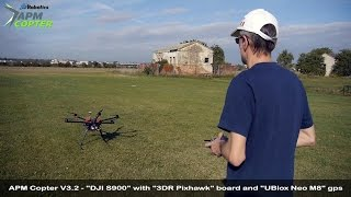 "getlinkyoutube.com-APM Copter V3.2 Release - ""DJI S900"" with ""3DR Pixhawk"" board and ""UBlox Neo M8"" gps"