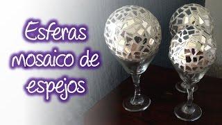 Esferas de espejo tipo mosaico para decoración , Spheres mirror mosaic for decoration