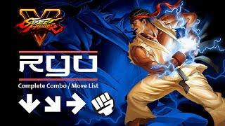 getlinkyoutube.com-Street Fighter V [SFV] Ryu Combo / Move Tutorial (PS4 / PC)