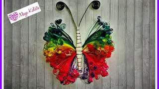 getlinkyoutube.com-How to make DIY paper quilling DESIGNS - Paper Butterfly / art / Ideas Tutorial!