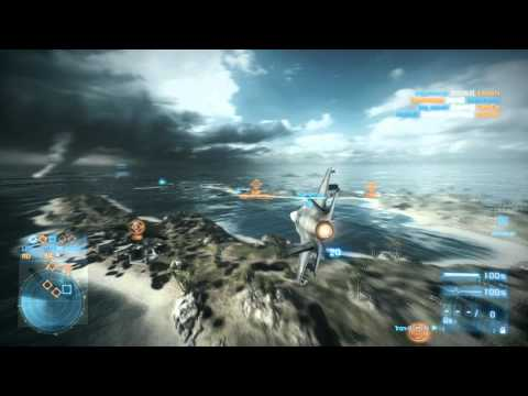 Battlefield 3: F35b Fighter Jet Gameplay | 31-1 | Wake Island | 1ron-tjunfisk