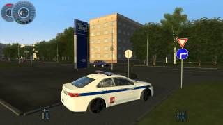 getlinkyoutube.com-City Car Driving 1.2.5 - Acura TSX Полиция - [ HD 1080p ]