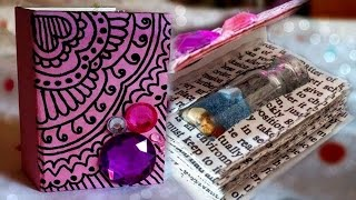getlinkyoutube.com-DIY: Mini Book for Bottle Charms ♥
