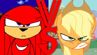 getlinkyoutube.com-Knuckles VS Applejack