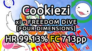 getlinkyoutube.com-Cookiezi | xi - FREEDOM DIVE [FOUR DIMENSIONS] | HR 99.13% FC 713pp | Liveplay w/ Twitch Chat
