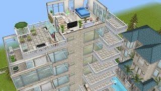 getlinkyoutube.com-Sims Freeplay || Construir rascacielos y habitaciones flotantes 2015