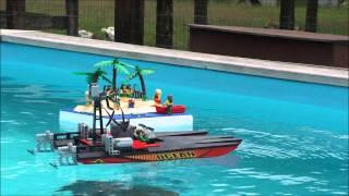 getlinkyoutube.com-BELUG -  LEGO Boatrace 2011