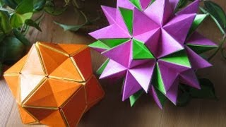 getlinkyoutube.com-Origami ✿ Revealed Flower ✿ ( PopUp Star)