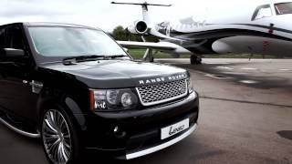 "getlinkyoutube.com-Black Range Rover on 22"" Lenso ESA Concaved Dished Wheels / Rims / Alloys /  Lenso Uk / Rimz"