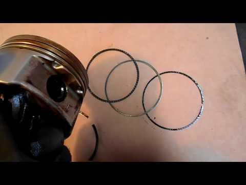 Киа спектра,сефия жрет масло,кольца и поршни  разбираю двигатель Часть 2