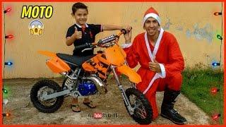 getlinkyoutube.com-Surpresa ! Ganhando Uma Mini Moto de Natal | KTM 50 Sx Guilherme 5 Anos