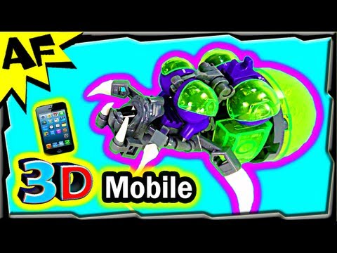 3D Mobile Lego StarCraft BANELING Custom MOC Animated Building Review