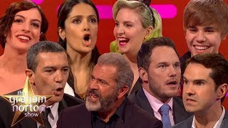 CELEBRITIES ATTEMPTING BRITISH ACCENTS on The Graham Norton Show width=