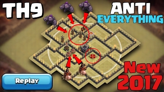 getlinkyoutube.com-TH9 War Base ANTI EVERYTHING NEW 2017 with REPLAY PROOF - Clash of Clans
