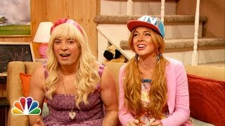 getlinkyoutube.com-Ew with Jimmy Fallon and Lindsay Lohan (Late Night with Jimmy Fallon)