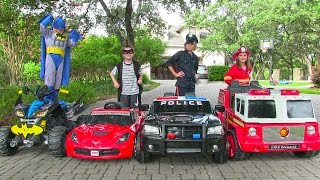 getlinkyoutube.com-Little Heroes 4 - The Stealer, The Fire Engine and The Batmobile