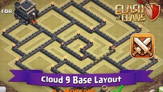 getlinkyoutube.com-Clash Of Clans: TH9 | BEST Clan War Base Layout - Cloud 9