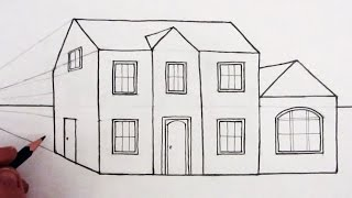getlinkyoutube.com-How to Draw a House in One-Point Perspective: Narrated