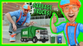 getlinkyoutube.com-Garbage Trucks For Kids With Blippi | Educational Toy Videos For Children