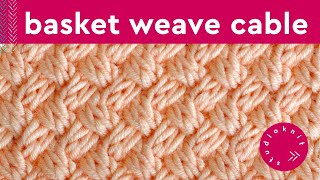 getlinkyoutube.com-How to Knit the Basket Weave Stitch | Diagonal Braided + Woven Cables