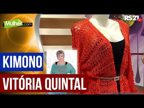 Mulher.com 11/12/2014 Kimono Trico por Vitoria Quintal parte 1