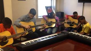 Music Matters Instructor Karl Lyden &  Beginner Guitar Class Perform Frere Jacques