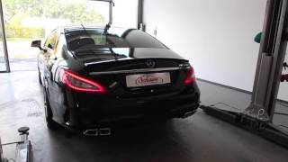 getlinkyoutube.com-Mercedes Benz Nachrüstung V8 Motorsound CLS Facelift 63 AMG Auspuffanlage Schawe Car Design