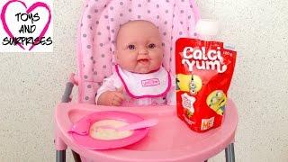 getlinkyoutube.com-❀ Видео с куклой Пупсик Играем в дочки матери Игрушки для Девочек Готовим Завтрак  Baby Doll Food