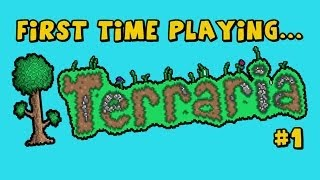 getlinkyoutube.com-First Time Playing... Terraria - Part 1