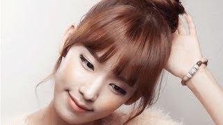 getlinkyoutube.com-[셀프헤어] 연예인 업스타일 #2 - 당고머리하는 법 the braided top knot hair