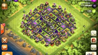 getlinkyoutube.com-Clash of Clans beste Rathaus 9 Pokaljagd-Dörfer!!!