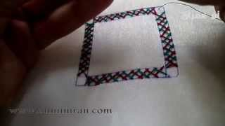 getlinkyoutube.com-تعليم طرز تركي اطار شكل الاول مع ام عمران tarz torki Arab Embroidery