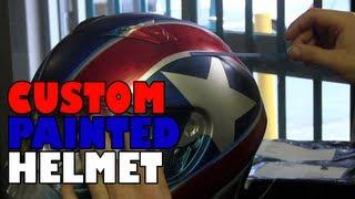 getlinkyoutube.com-Dave custom painted his helmet