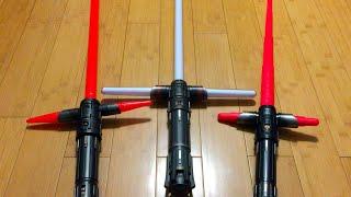 getlinkyoutube.com-KYLO REN Lightsaber Comparison: Force FX, Disney Exclusive, & Bladebuilders